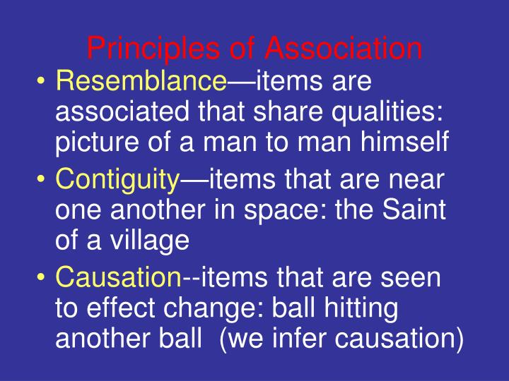 Principles of Association