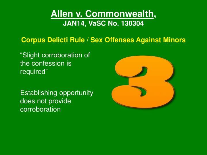 Allen v. Commonwealth