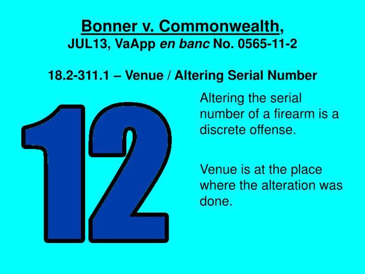 Bonner v. Commonwealth