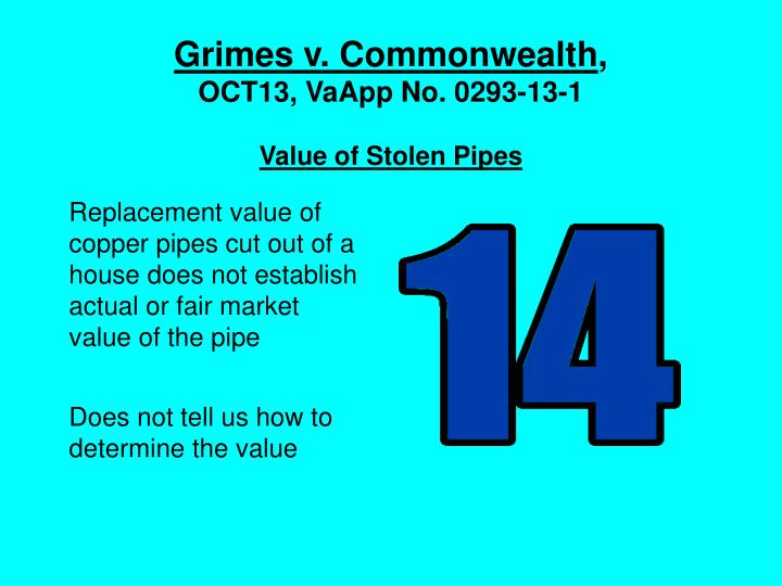 Grimes v. Commonwealth
