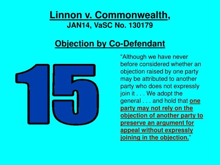 Linnon v. Commonwealth