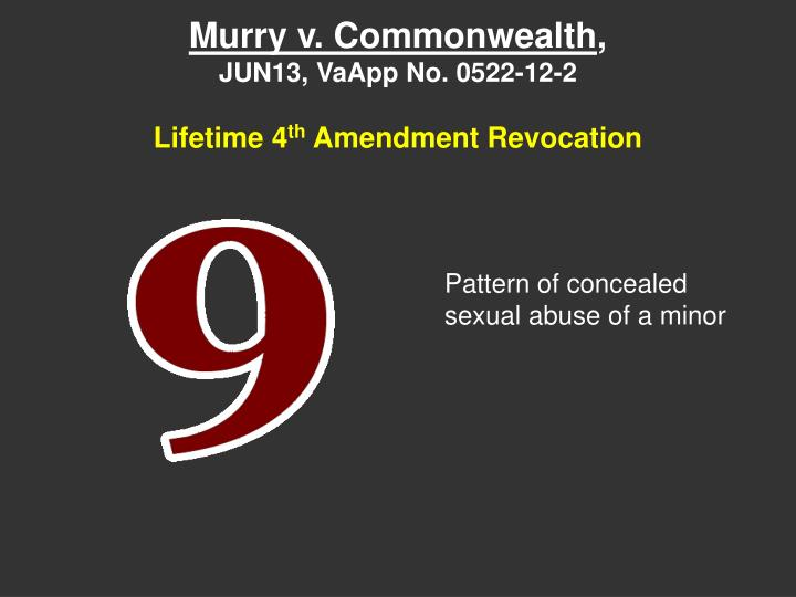 Murry v. Commonwealth