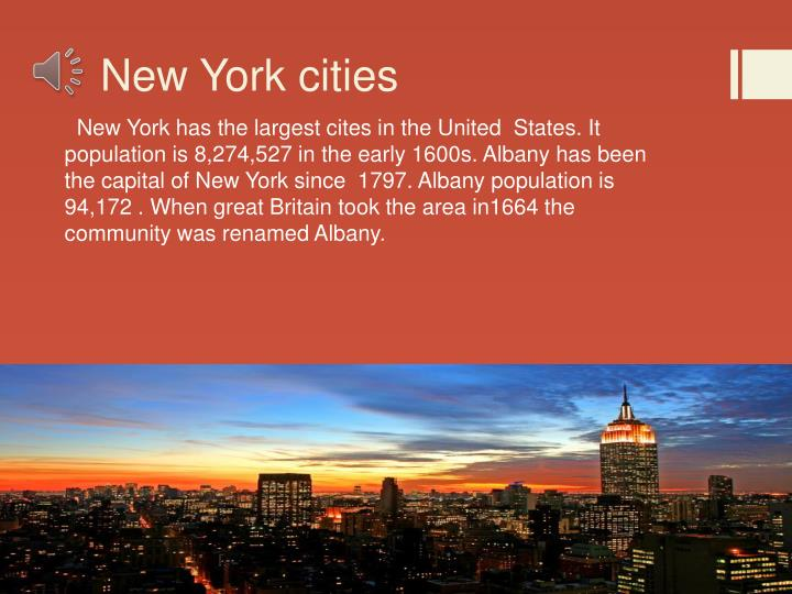 New york cities