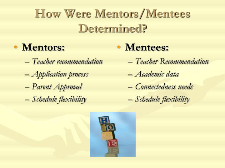 How were mentors mentees determined