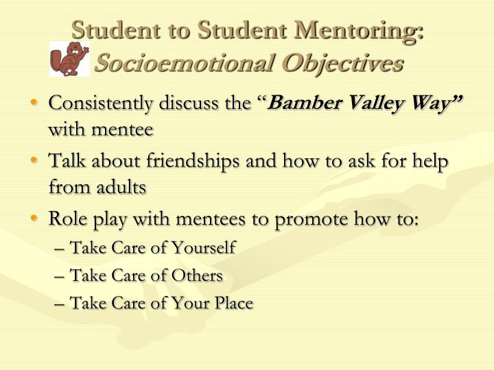 Student to Student Mentoring: