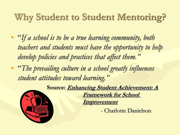 Why student to student mentoring