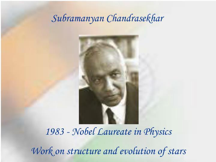 Subramanyan Chandrasekhar