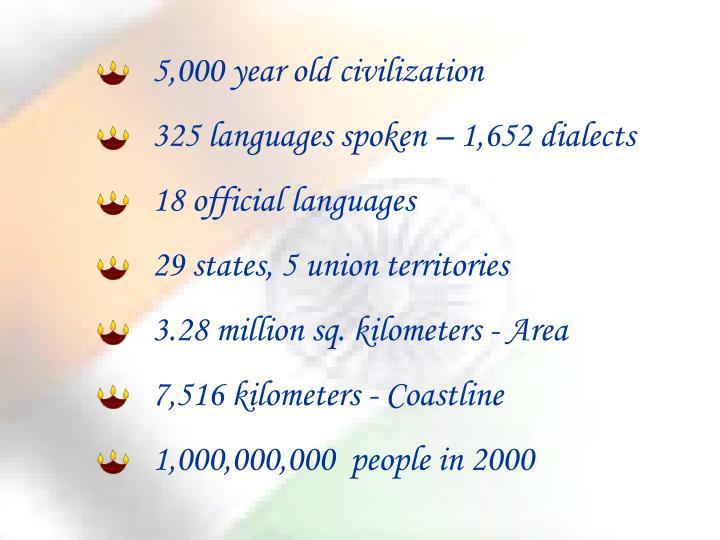 5,000 year old civilization