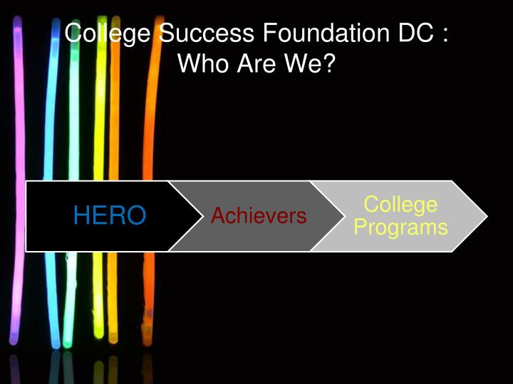 College success foundation dc who are we
