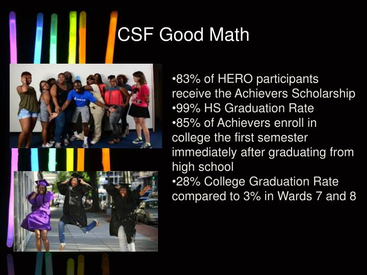 CSF Good Math