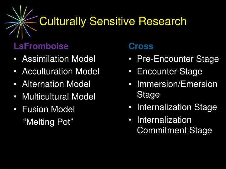 Culturally Sensitive Research