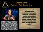 duckworth grit and self discipline