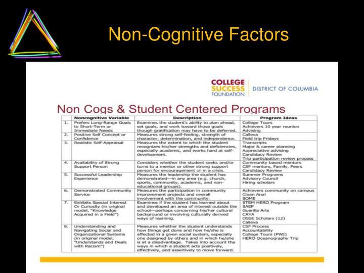 Non-Cognitive Factors