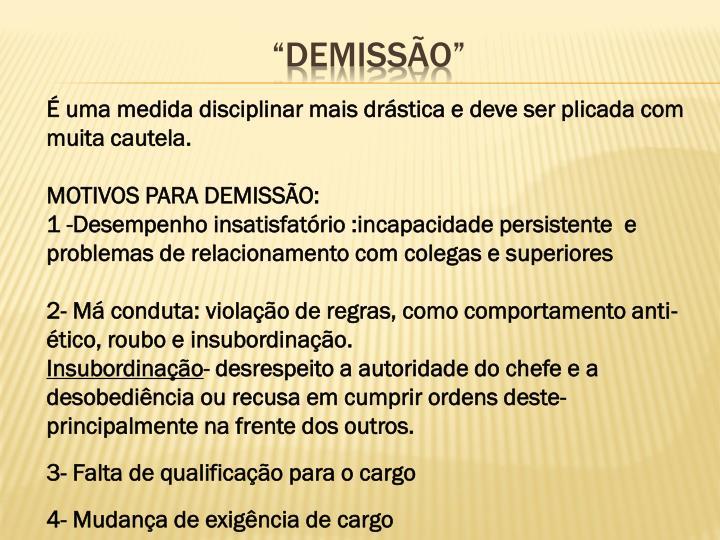 """""""DEMISSÃO"""""""