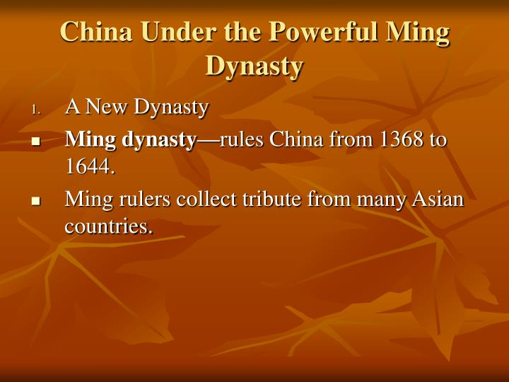 China Under the Powerful Ming Dynasty