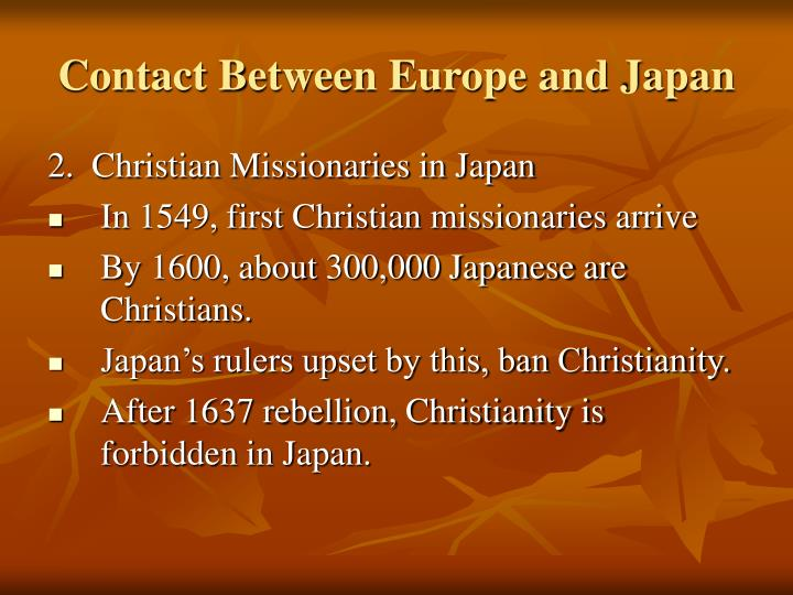 Contact Between Europe and Japan