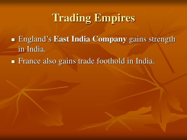 Trading Empires