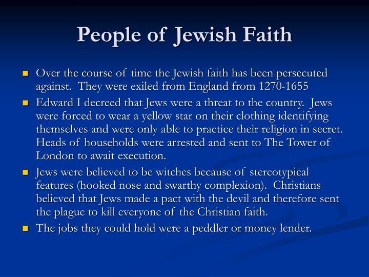 People of Jewish Faith