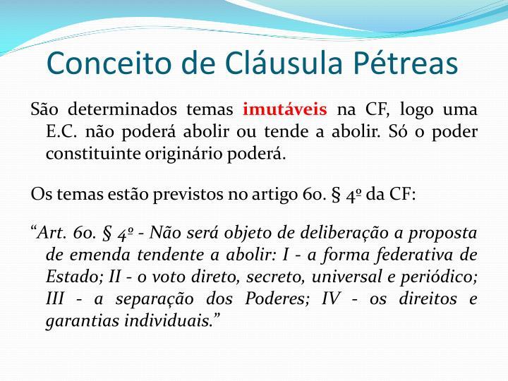 Conceito de Cláusula Pétreas