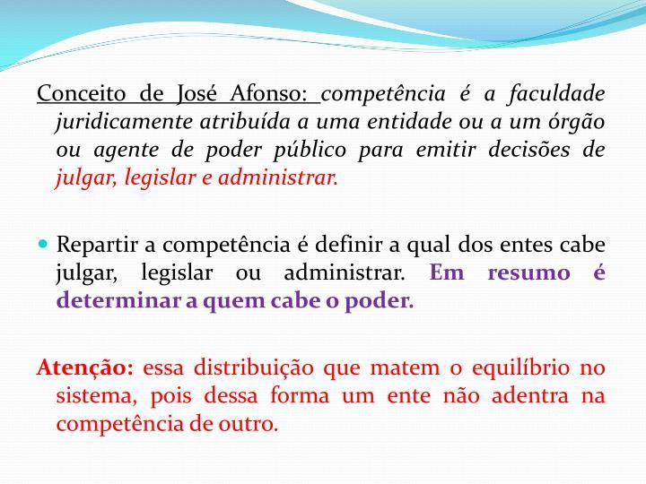 Conceito de José Afonso: