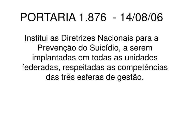 PORTARIA 1.876  - 14/08/06