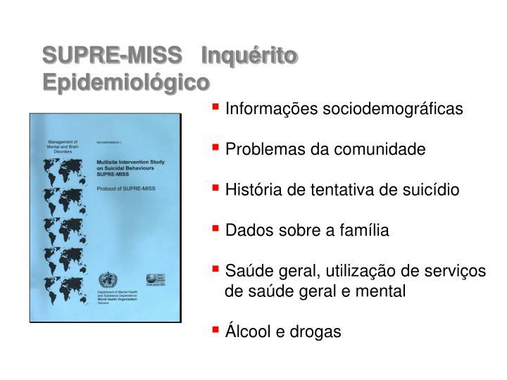 Informações sociodemográficas