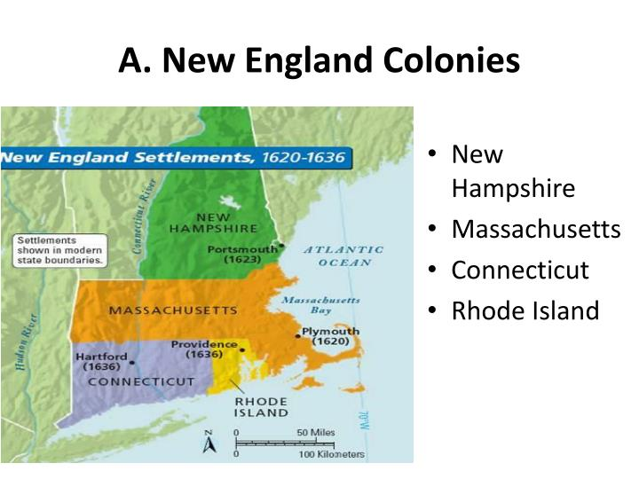 A new england colonies