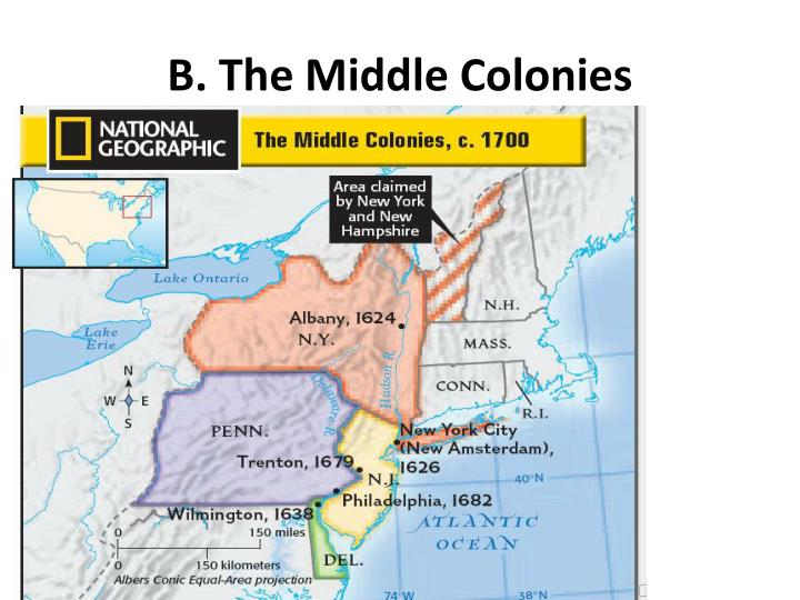 B. The Middle Colonies
