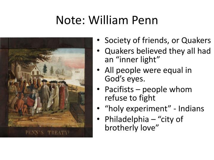 Note: William Penn
