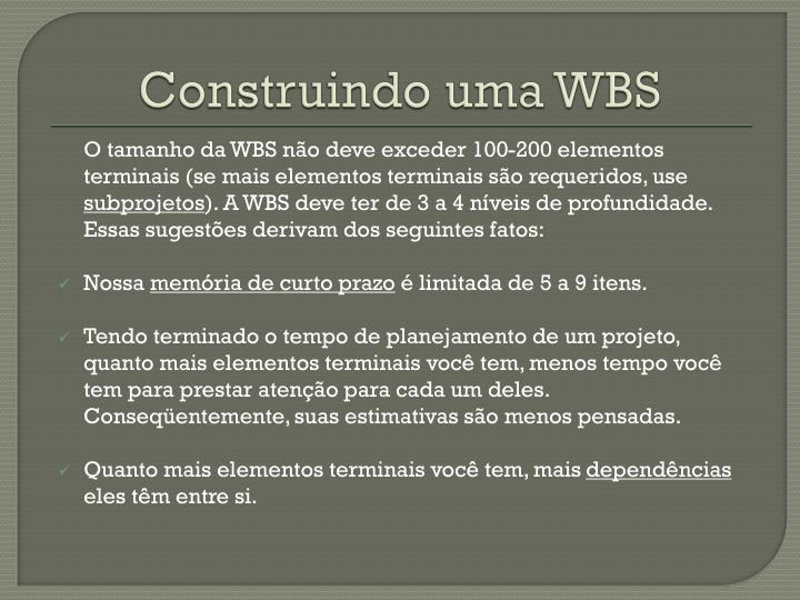 Construindo uma WBS