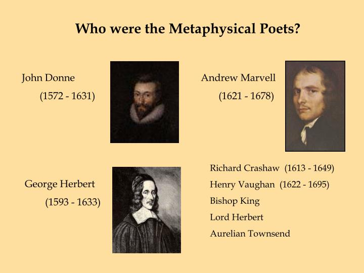Who were the Metaphysical Poets?
