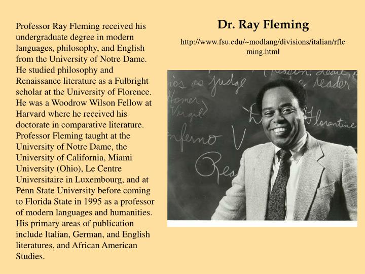 Dr. Ray Fleming