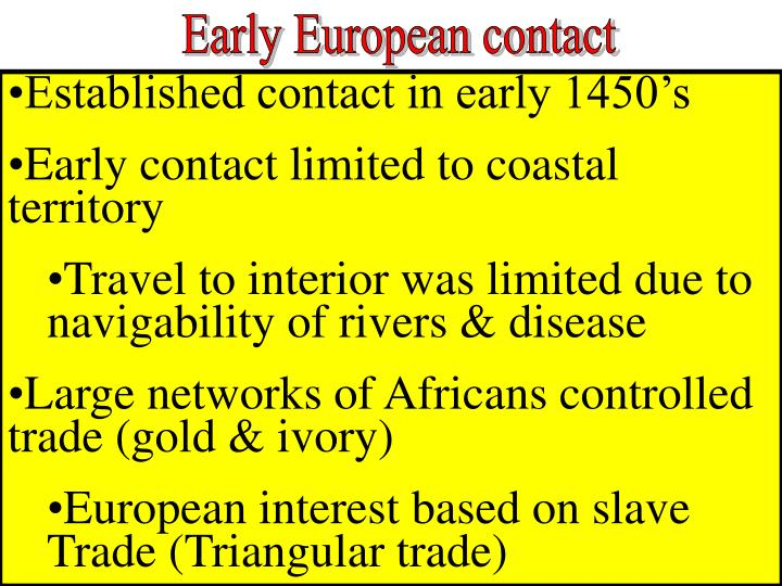 Early European contact