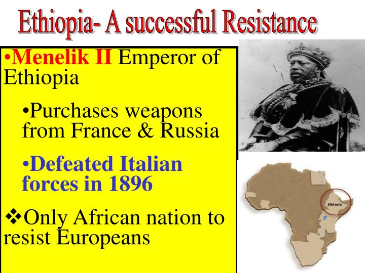 Ethiopia- A successful Resistance