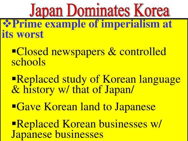 Japan Dominates Korea