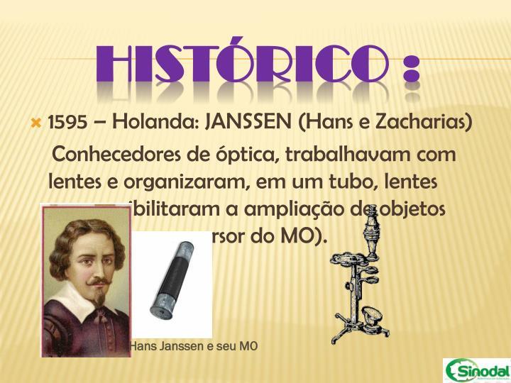 1595 – Holanda: JANSSEN (Hans e Zacharias)