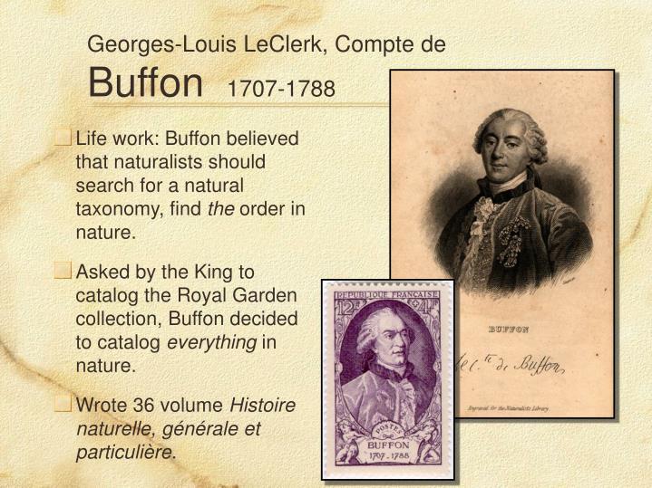 Georges-Louis LeClerk, Compte de