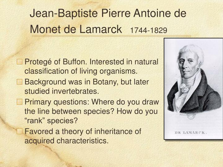 Jean-Baptiste Pierre Antoine de Monet de Lamarck