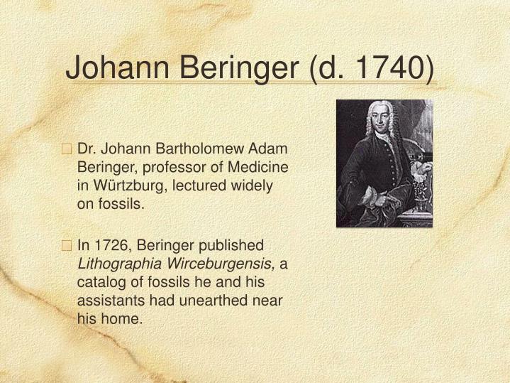 Johann Beringer (d. 1740)