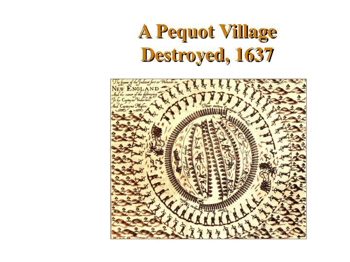 A Pequot Village