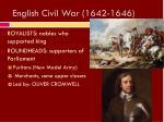 english civil war 1642 1646