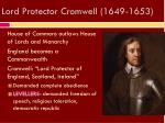 lord protector cromwell 1649 1653