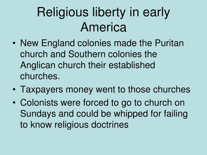 Religious liberty in early America