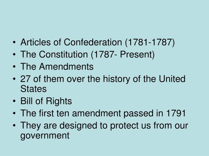 Articles of Confederation (1781-1787)
