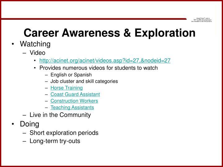 Career Awareness & Exploration
