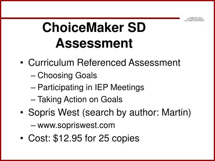 ChoiceMaker SD Assessment