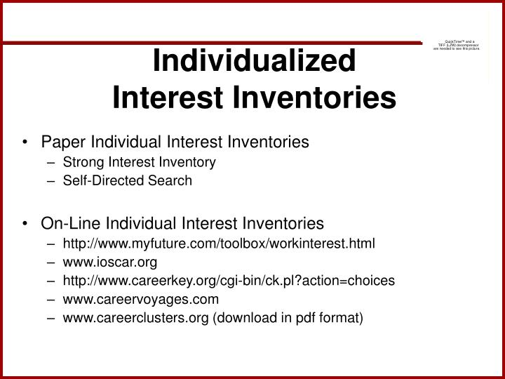 Individualized Interest Inventories