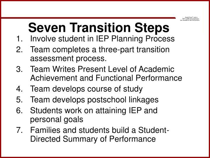 Seven Transition Steps