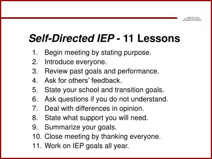 Self-Directed IEP