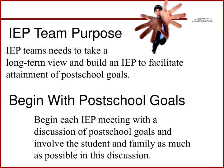 IEP Team Purpose